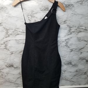 H & M Divided Womens Short Dress Sz 4 Black Sexy